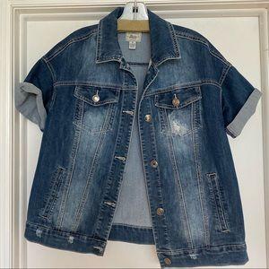 Bass outlet short sleeve oversized jean jacket